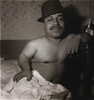 Diane Arbus, Dwarf in his Hotel Room, NYC, 1970