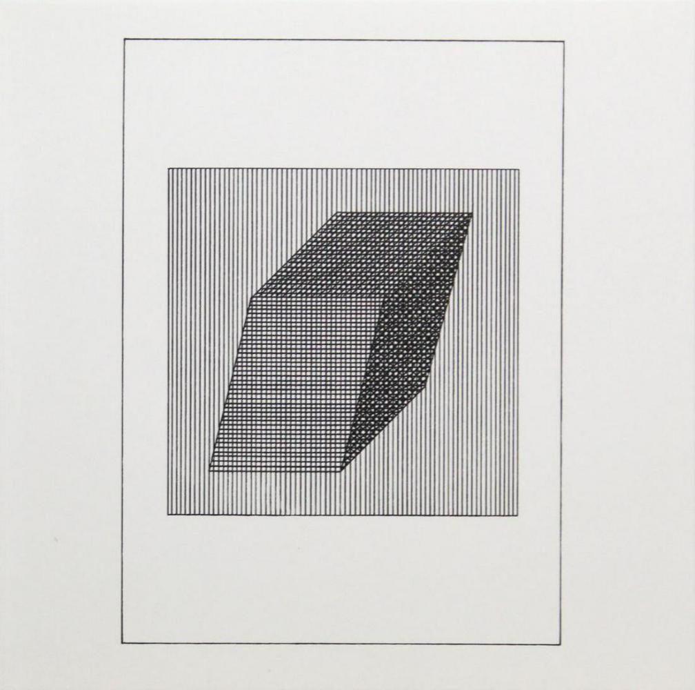 "Sol Lewitt - Silkscreen from the Suite ""Ficciones"""