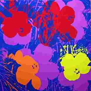 ANDY WARHOL FLOWERS 11.66 SERIGRAPH SUNDAY B. MORNING