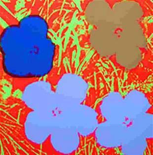 ANDY WARHOL FLOWERS 11.69 SERIGRAPH SUNDAY B. MORNING
