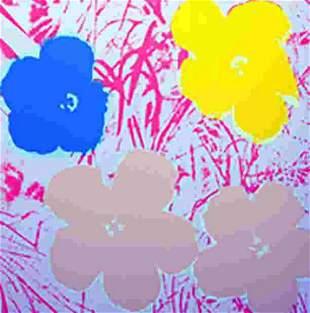 ANDY WARHOL FLOWERS 11.70 SERIGRAPH SUNDAY B. MORNING