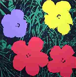 ANDY WARHOL FLOWERS 11.73 SERIGRAPH SUNDAY B. MORNING