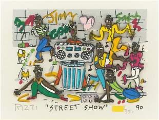 "James Rizzi ""Street Show"" Mixed Media 3D, Signed & numb"