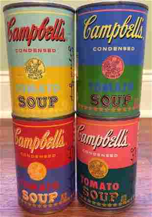 ANDY WARHOL, Four Campbell's Soup Can 2004 Screenprint
