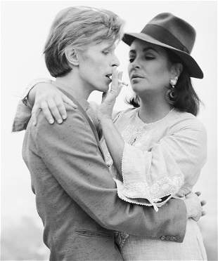 TERRY ONEILL, David Bowie with Elizabeth Taylor - 1975