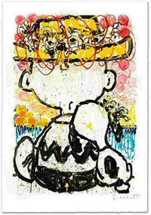 """Tom Everhart- Lithograph """"Mon Ami"""" Signed & numbered"""