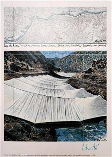 Christo - Over the river - Hand signed lithograph