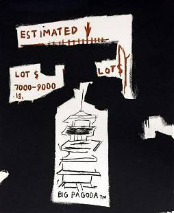 "JEAN MICHEL BASQUIAT, ""BIG PAGODA 1997"" ESTATE"