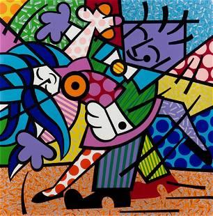 """Romero Britto (Brazilian, b 1963) """"Dancers"""" 1993"""