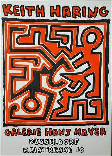 Keith Haring Galerie Hans Mayer -1988, Hand signed