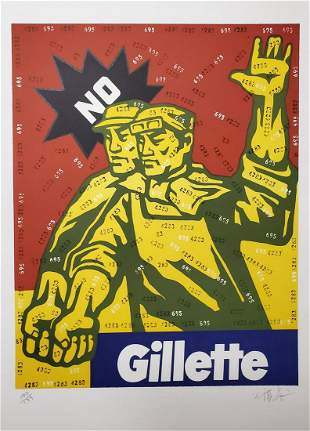 Wang Guangyi, Gillette, from The Great Criticism