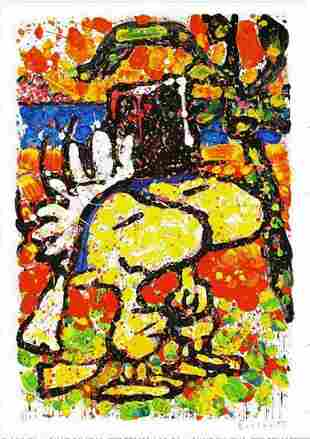 """Tom Everhart, Signed/# Lithograph """"HITCHED"""""""