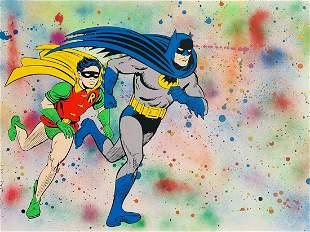 Mr. Brainwash, Batman & Robin, Original 1/1 Mixed media