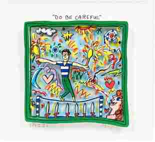 James Rizzi, Do Be Careful, Mixed Media 3D, Signed/N