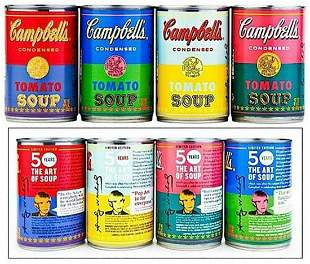 ANDY WARHOL, Signed Four (4) Campbell's Soup Can 2004