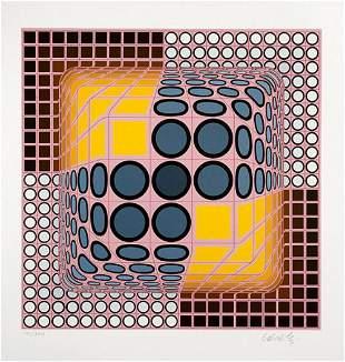 Victor Vasarely - Vega Blue, Silkscreen Signed &