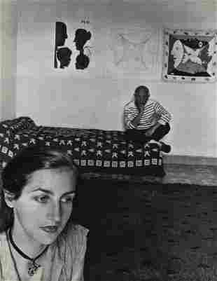 Robert Doisneau, 1955 PABLO PICASSO & Wife Vallauris