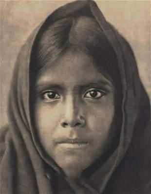 EDWARD CURTIS American Indian Qahatika Girl 1900