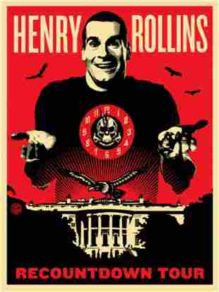 Shepherd Fairey Henry Rollins, Screenprint signed and
