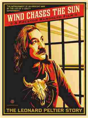 Shepard Fairey, WIND CHASES THE SUN, Signed & numbered