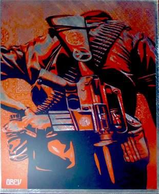 Shepard Fairey, DUALITY OF HUMANITY, on Metal. Ed.3