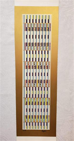 YAACOV AGAM, VERTICAL ORCHESTRATION SIGNED/#