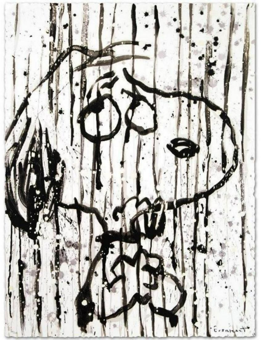 """Tom Everhart """"Dancing in the Rain, S/N Lithograph"""