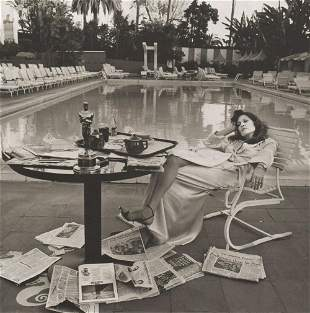 TERRY O'NEILL - Faye Dunaway, Beverly Hills Hotel