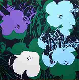 ANDY WARHOL FLOWERS 11.64 SERIGRAPH SUNDAY B. MORNING