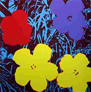 ANDY WARHOL FLOWERS 11.71 SERIGRAPH SUNDAY B. MORNING