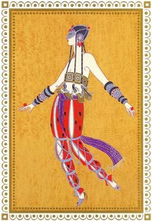 "Erte ""Arabian Dancer"" Lithograph Signed & numbered"