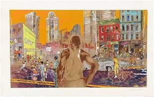 "Leroy Neiman ""Harlem Streets"" Signed & numbereed serigr"