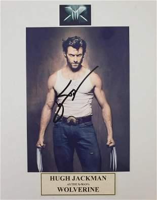Hugh Jackman, Wolverine, Autographed, matted 8x10 Photo