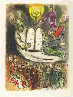 "Marc Chagall ""Exodus- Tablets"" Faxm. signed/numbered li"