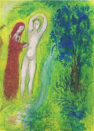 Marc Chagall, Daphnis and Chloe - Beside The Spring,