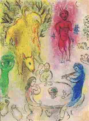 Marc Chagall, Daphnis and Chloe - Pan's Banquet,