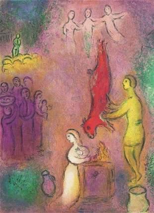 Marc Chagall, Daphnis and Chloe - The Sacrifice of