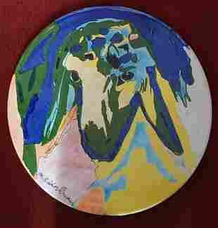 "Menashe Kdishman ""Round Color Sheep"" hand signed Monoty"