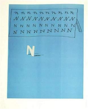 David Hockney - Letter N - Framed Lithograph