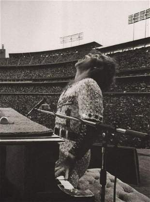 Terry O'Neill - Elton John, Dodger Stadium, 1975