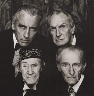 Terry O'Neill, Christopher Lee, Price, Peter Cushing,