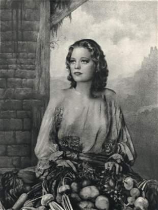 "WILLIAM MORTENSEN, ""Market Girl"" 1935, Photogravure"