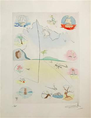 Salvador Dali, Twelve tribes of Israel, Signed/Numbered