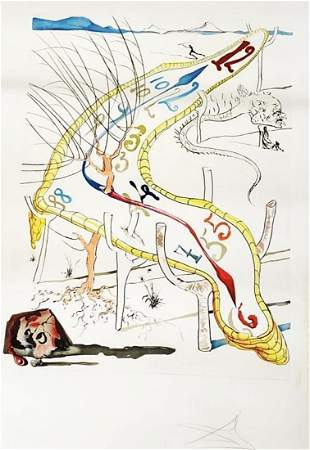SALVADOR DALI, THE FROZEN WATCHES OF SPACE TIME, SIGNED