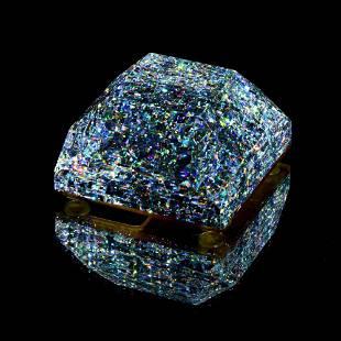 """Jon Kuhn, """"2009 Crushed Diamond"""" Paperweight original"""