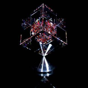 "Jon Kuhn, ""Akane - 2021"" Original 1/1 Glass Cube"