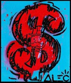 "Alec Monopoly ""Money Screen"" Acrylic on Canvas, Edan"