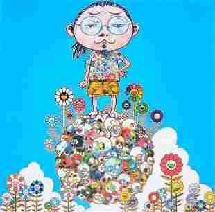 """Takashi Murakami """"Me among the supernatural"""" Signed/No"""