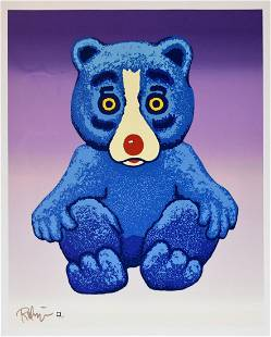 George Rodrigue, Blue Dog Boogie Bear Signed & numbered