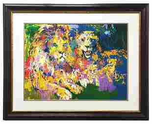 """LeRoy Neiman """"Lion Pride"""" Serigraph Signed & numbered"""